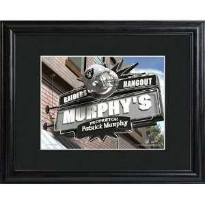 Oakland Raiders NFL Pub Sign in Wood Frame