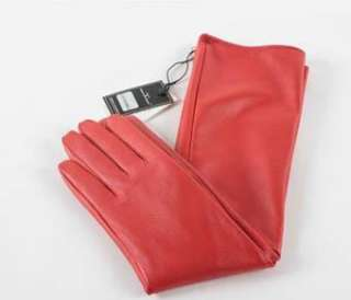 50cm(19.6) long real leather evening gloves*bright red
