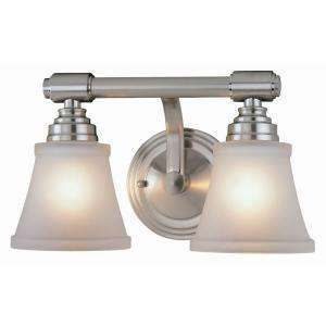 Hampton Bay 2 Light Brushed Nickel Bath Light HD207075 at The Home