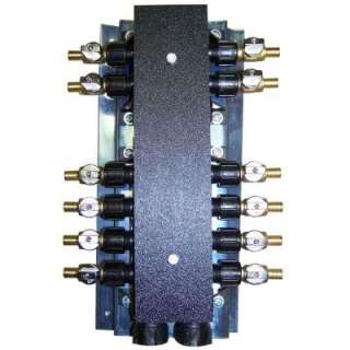 in. Plastic Female x Barb 12 Port Manifold with Brass Ball Valves