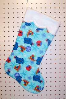 NEW Handmade Christmas Stocking ELMO & COOKIE MONSTER