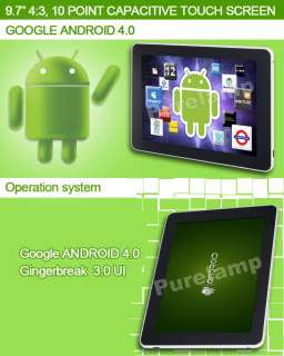 Android 4.0 Tablet PC 10 Point Capacitive IPS Screen Dual Camera