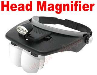 JEWELERS Head Light Magnifying Glass Magnifier Loupe