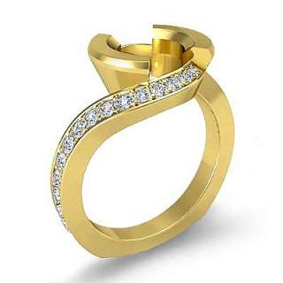 4c Round Diamond Engagement Ring Semi mount 14k Yellow Gold 5sz