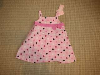 New Gymboree Baby Girl Pink Dots Dress 12 18 Months M