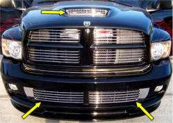Dodge RAM SRT10 (2004 05) Lower Front & Hood Scoop Matching Grilles