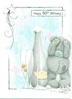 ME TO YOU HAPPY 50TH BIRTHDAY  TATTY TEDDY BEAR BIRTHDAY CARD NEW