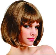 This Barbara Ann Bob Wig   Brown is a classic bob haircut with bangs
