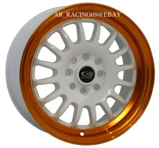 15 ROTA RIMS TRACK R Orange CRX FIT INTEGRA CIVIC SI