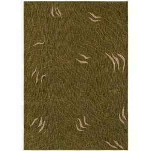 Shaw Angela Adams Hazel 110 x 29 Dark Green Area Rug