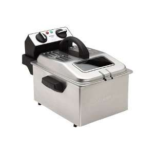 Professional 1 Gallon Deep Fryer   Black