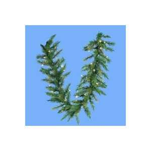 Pre lit LED Designers Artificial Christmas Green Garland   Warm