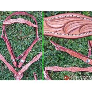 Pa451452 Western Leather Tack Horse Bridle Headstall Breast Collar