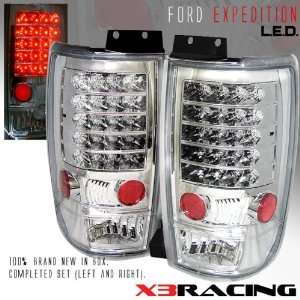 Ford Expedition Led Tail Lights Chrome Altezza LED Taillights 1997