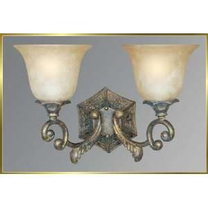 Wrought Iron Wall Sconce, JB 7362, 2 lights, French Bronze, 17 wide X