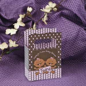 Girls African American   Mini Personalized Baby Shower Favor Boxes