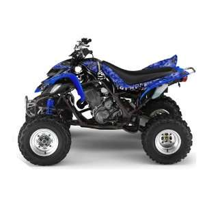 Yamaha Raptor 660 ATV Quad Graphic Kit   Reaper Blue Automotive