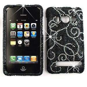 HTC EVO 4G Full Crystal Diamond / Rhinestone / Bling White