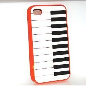 Orange Piano Keyboard Style Design Soft Silicone Skin Gel Cover Case