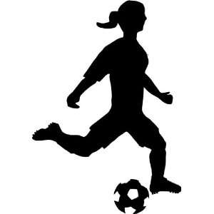 woman kicking soccer ball Decal Sticker