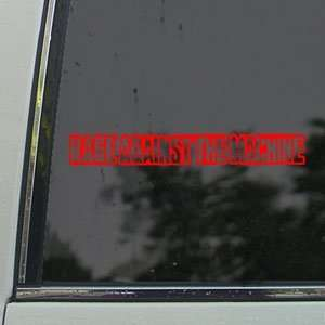 Rage Against The Machine Red Decal Band Window Red Sticker