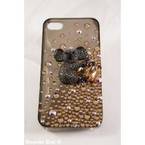3d Custom Swarovski Crystal Koala Bear Bling Case Cover