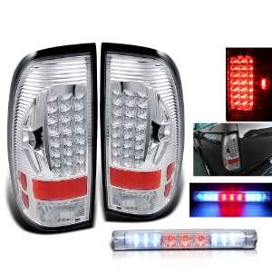 97 03 Ford F150 LED Tail Lights+LED 3Rd Brake Light Set Automotive