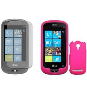 LG Quantum C900 Combo Rubber Hot Pink Protective Case