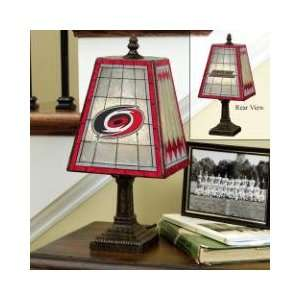 CAROLINA HURRICANES Team Logo Hand Painted ART GLASS TABLE LAMP (14
