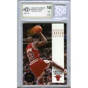 Michael Jordan Chicago Bulls Game Used Jersey Graded BGS BECKETT 10