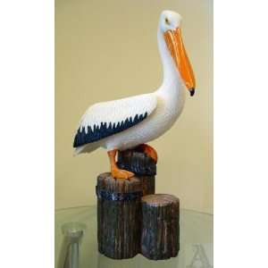 Pelican Beach Ocean Indoor Outdoor Art Statue Figure