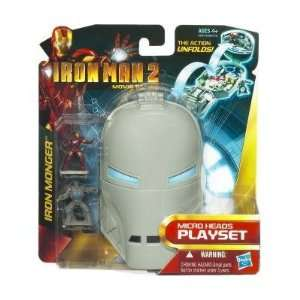 IRON MAN 2 Micro Heads Mini Playsets   Iron Monger  Toys & Games