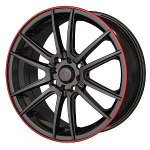 Akita Racing AK 77 477 Black with Red Ring Wheel (16x7