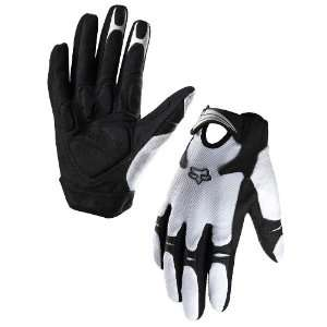 FOX RACING REFLEX GEL BIKE GLOVES WHITE M(9)  Sports