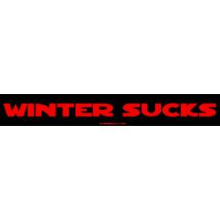 Winter Sucks Large Bumper Sticker Automotive