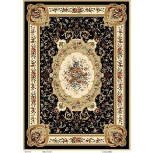 Home Dynamix Royalty Machine woven Black Oriental Rug