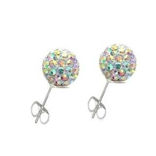 Utopia Collection Silver Swarovski Crystal Earings