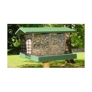 Double Hopper & Suet Bird Feeder Patio, Lawn & Garden