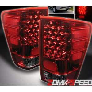 Nissan Titan Led Tail Lights Red Smoke LED Taillights 2004 2005 2006