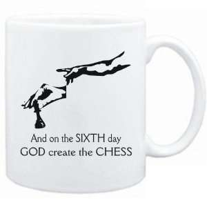 New   Sixth Day God Create The Chess  Mug Sports