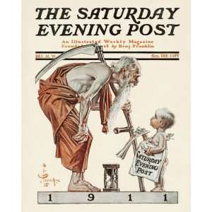 New Years Baby, 1911   Father Time Arts, Crafts & Sewing