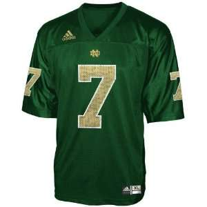adidas Notre Dame Fighting Irish #7 Green Youth Replica Football