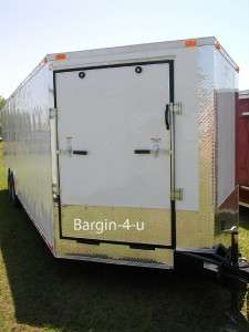 NEW 8.5x24 Snowmobile Enclosed Carhauler Cargo Trailer