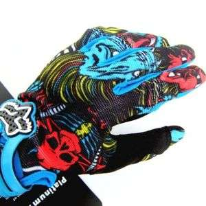 Fox Racing Motorcross Cycling BMX Gloves Size 201 Blue M/L/XL