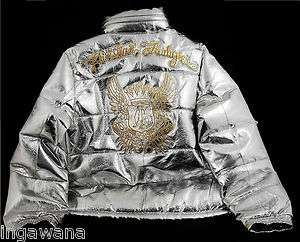 CHRISTIAN AUDIGIER ED HARDY NWT MENS PREMIUM LEATHER PUFFER JACKET