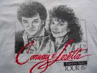 1987 LORETTA LYNN CONWAY TWITTY COUNTRY ROCK BAND SHIRT