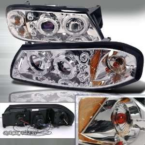 00 05 Chevy Impala Projector Headlights   Chrome Blue Lens Automotive