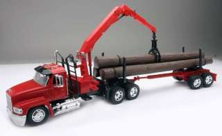 MACK CH LOG CARRIER TRUCK TRAILER DIECAST 132 MODEL