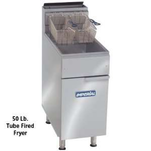 Imperial Gas Deep Fryer   50 Lb Oil Capacity   15 1/2 Wide   140,000