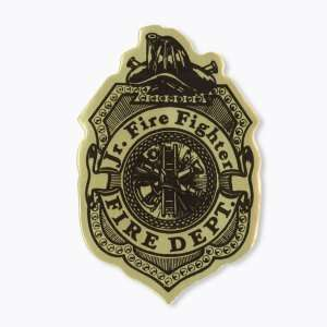 Junior Fire Fighter Badge Stickers Toys & Games